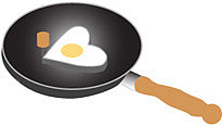 fredflare.com | heart-shaped egg mold