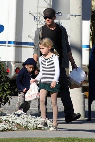 Ryan, Ava, and Deacon Phillippe out on Sunday grabbing some In-N-Out after Ice Skating :D