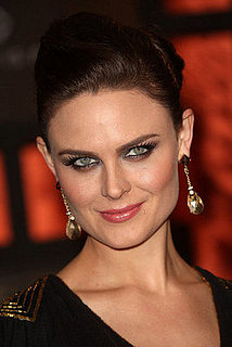 Emily Deschanel's makeup and hair at the 2008 Critics' Choice Awards
