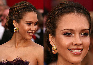 Jessica Alba at the Oscars: hair and makeup