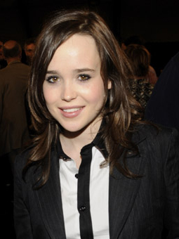 Ellen Page's hair and makeup at the Independent Spirit Awards