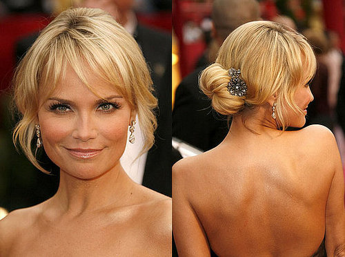 Kristin Chenoweth at the Oscars: hair and makeup