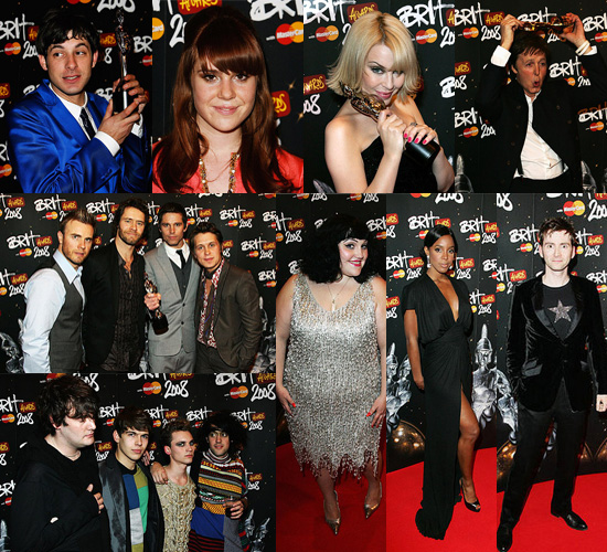 Press Room at Brit Awards 2008