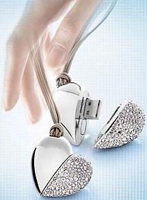 bookofjoe: For the Geek Girl Who Has Everything: Swarovski Philips Heart Beat Flash Drive