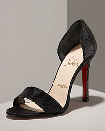Christian Louboutin Sequined Sandal -  Shoes -  Neiman Marcus