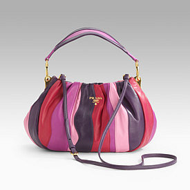 Prada - Nappa Stripes Multicolor Small Hobo
