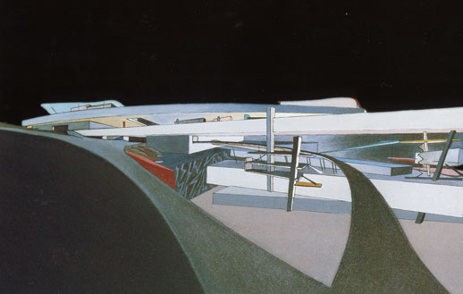 Drawing for the Peak, Hong Kong, 1982