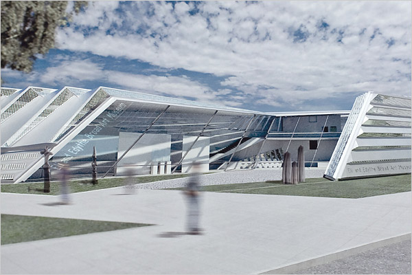 Digital Drawing of Proposed Eli and Edythe Broad Art Museum