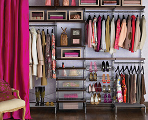 To get you organized, there's a nice and new freestanding closet system that's pretty easy on the eyes, too.