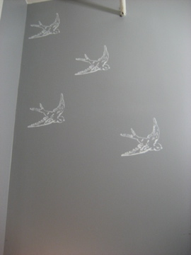 Birds on the Bathroom Wall