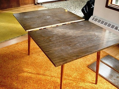 Before and After: Danny Seo's Veneer Strip Table