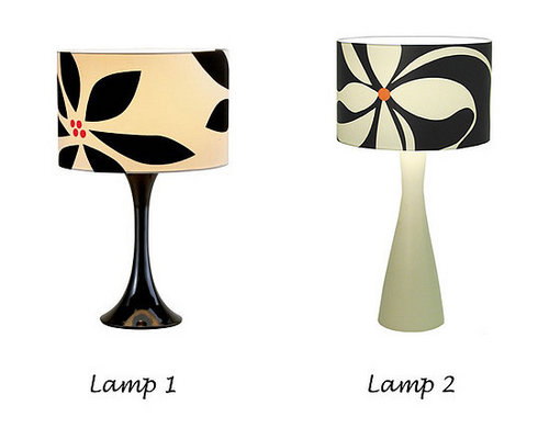 Less or More:  Flowered Table Lamps