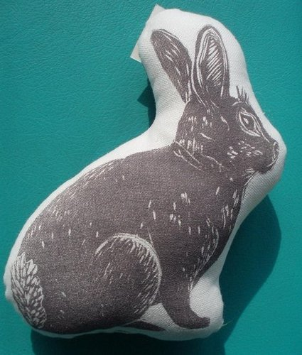 Etsy Find: Block Print Bunny Stuffie
