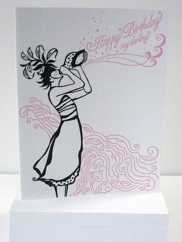 The Card Shop: Letterpress Birthday Card