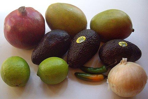 Pomegranate Mango Guacamole