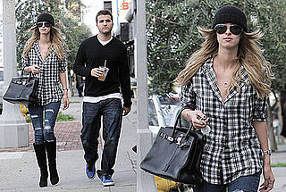 Nicky Hilton Hangs Out in LA In Black Beanie, Jet Jeans, and Hermes Birkin