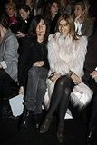 Emmanuelle Alt and Carine Roitfeld at Christian Dior