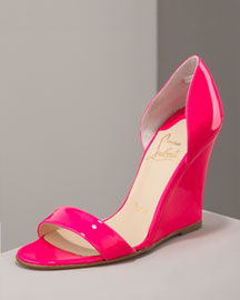 Christian Louboutin Patent d'Orsay Wedge