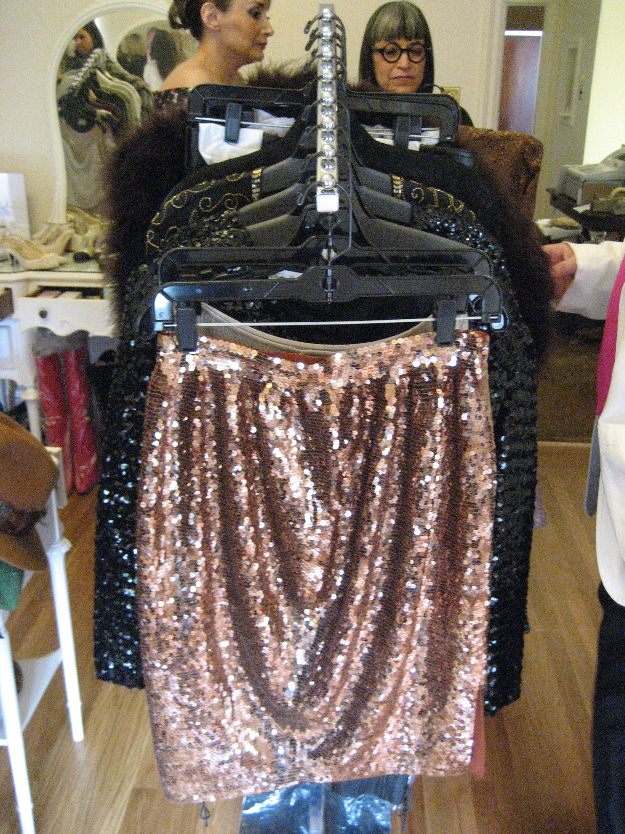 A divine sequin skirt.