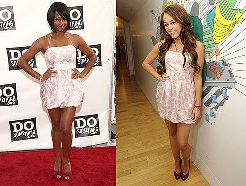 Who Wore It Better? Pink Polka Dot Alice + Olivia Dress