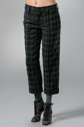 The Look For Less: Thakoon Plaid Crop Pant
