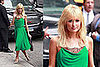 Paris Hilton Stops by The David Letterman Show in a Diane von Furstenberg Dress