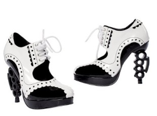 Love It or Hate It? Black and White Costume Knuckle Heel Shoes