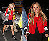 Amanda Bynes Attends Madonna Concert in Red Cropped Jacket and Gucci Bag