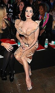 Dita Von Teese Wears Vivienne Westwood at Vivienne Westwood London Fashion Week Spring/Summer 2009 Show
