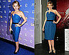 Kylie Minogue and Becki Newton Both Wear Yves Saint Lauren's Blue Belted Dress
