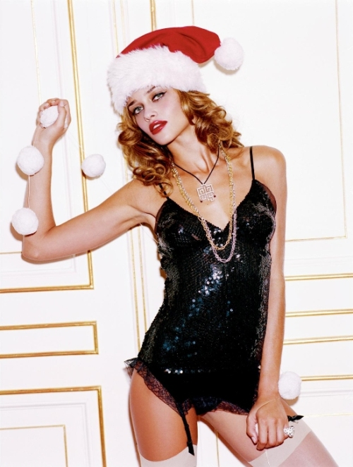 Girls on Film: Ana Beatriz Barros Wishes You a Nighty Christmas