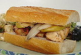 Grilled Chicken, Apple, and Onion Sandwiches