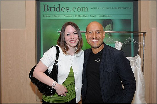 Me with famous wedding gown designer Angel Sanchez!