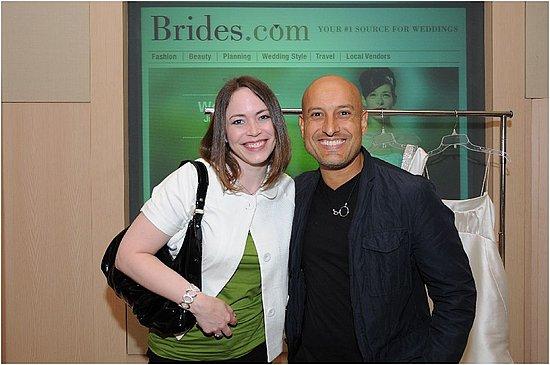 Me with famous wedding gown designer Angel Sanchez!