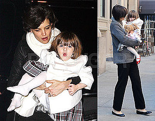 Photos of Suri Cruise and Katie Holmes in NYC Before New Year's