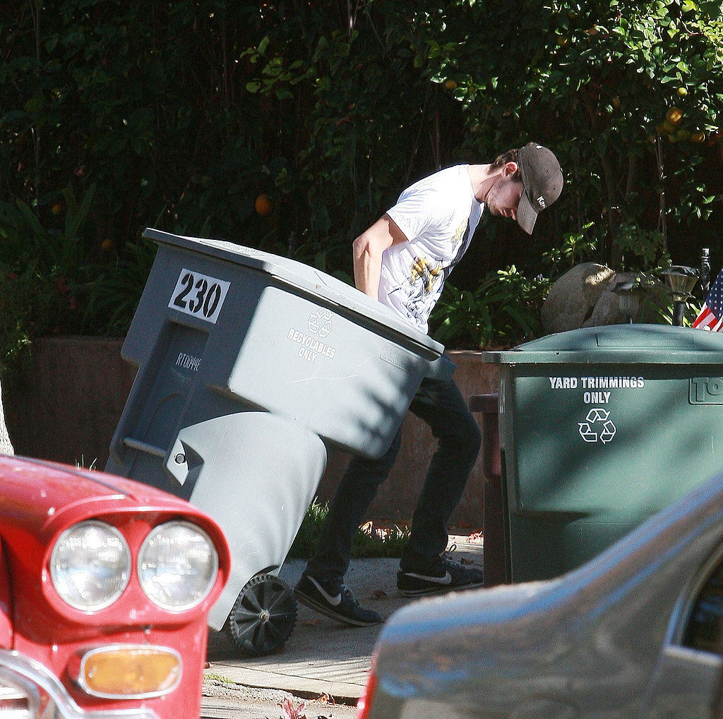Shia Takes Out The Trash