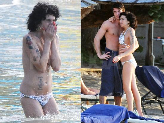 Amy Winehouse Hits The Beach