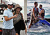 Photos of Ryan Seacrest and Simon Cowell of American Idol Shirtless Jet-Skiing in the Bahamas