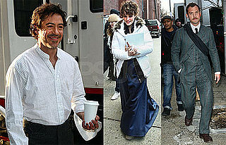 Photos of Robert Downey Jr., Rachel McAdams, Jude Law on the Set of Sherlock Holmes