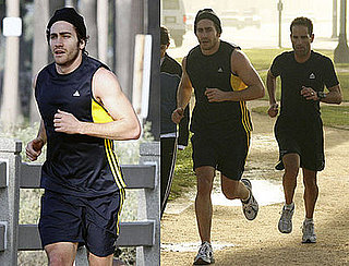 Photos of Jake Gyllenhaal Running in LA Before the Golden Globes