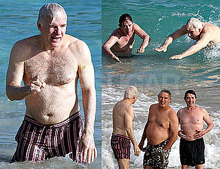 Photos of Shirtless Steve Martin Swimming in St. Barts With Martin Short
