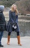 Leighton Meester Films Gossip Girl in Central Park