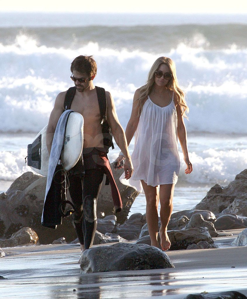 Lauren Conrad on the Beach with Kyle Howard