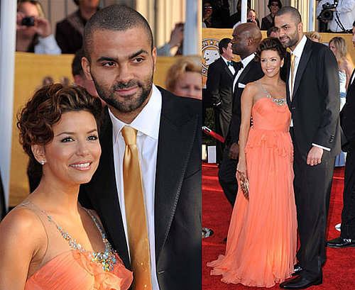 Eva Longoria Brings Tony to Shine on SAG Red Carpet