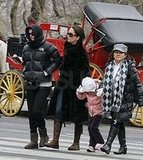 Courteney Cox Playing with Coco in the Snow