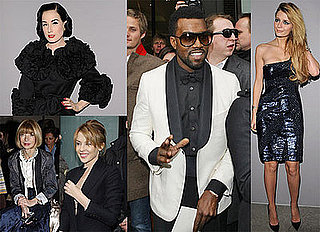 Photos of Mischa Barton, Anna Wintour, Kanye West and Kylie Minogue at the 2009 Spring Couture Shows in Paris