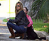 Photo of Jennifer Aniston Helping to Rescue a Dog