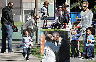Photos of Seal, Heidi Klum, Johan Samuel, Henry Samuel, Leni Klum at the Park