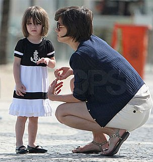 Photos of Katie Holmes and Suri Cruise on the Beach in Brazil