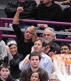 Ed Westwick and Jessica Szohr at Knicks Game